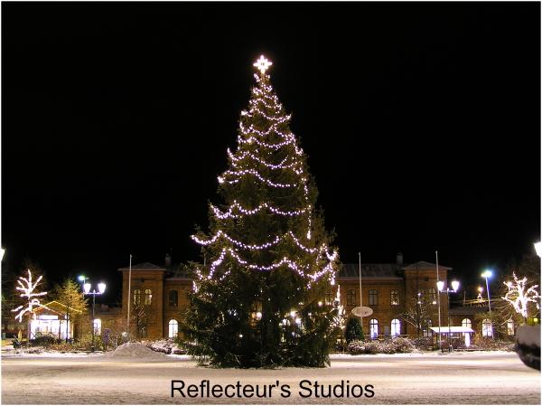 merry christmas arvika värmland sweden reflecteurs