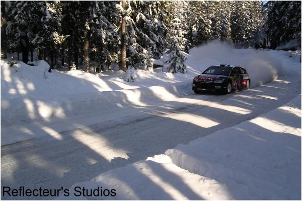 WRC Rally Sweden reflecteurs studios