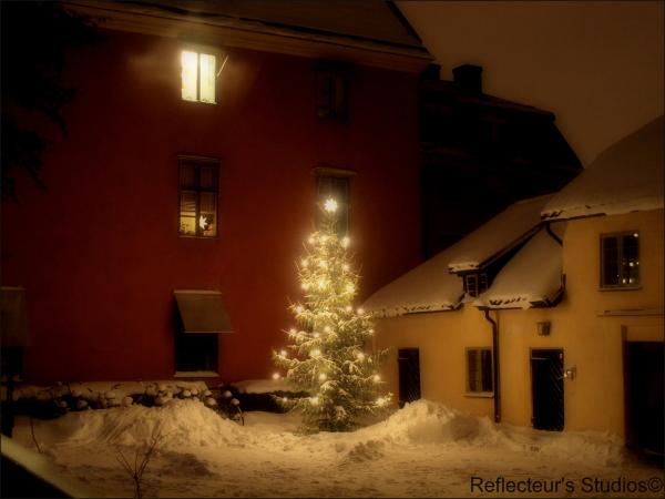 Merry Christmas uppsala sweden reflecteurs