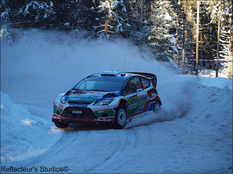 WRC Rally Sweden 2011 reflecteurs studios