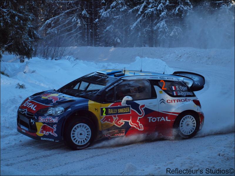 WRC Rally Sweden 2011 reflecteurs studios