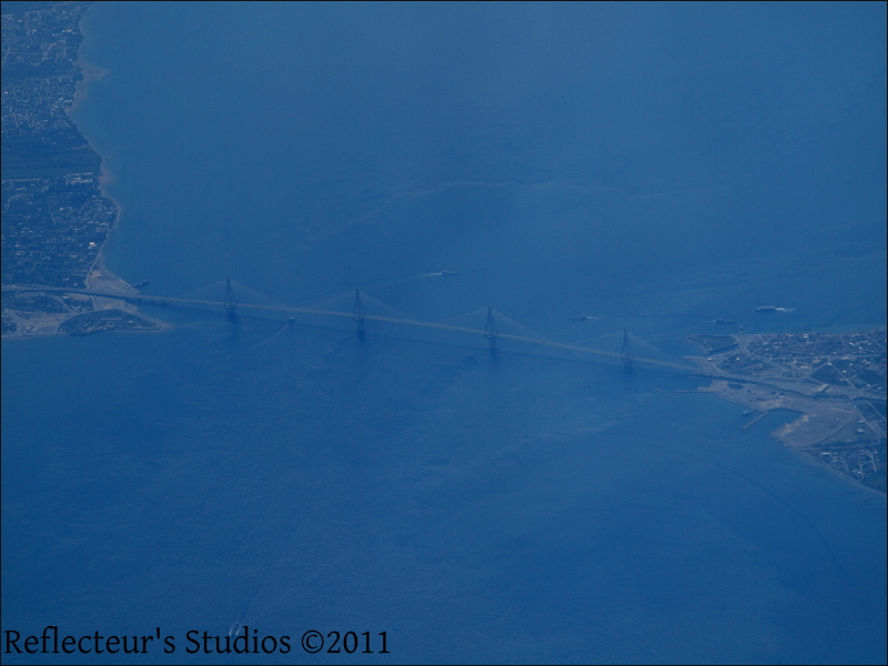 Rion-Antirion bridge Greece Hellas Peloponnese