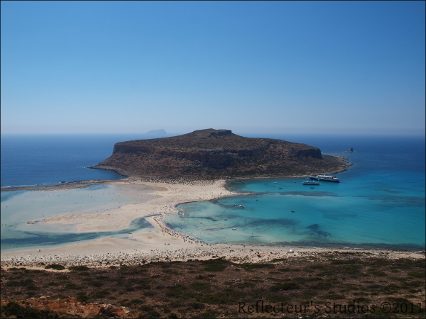balos gramvousa crete hellas greece reflecteurs