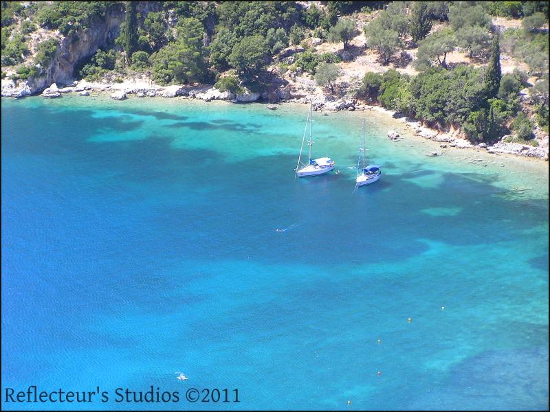 ithaka ionian sea greece hellas reflecteurs summer