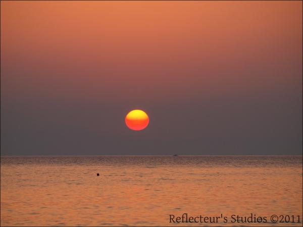 summer sea sunset crete greece hellas aegean