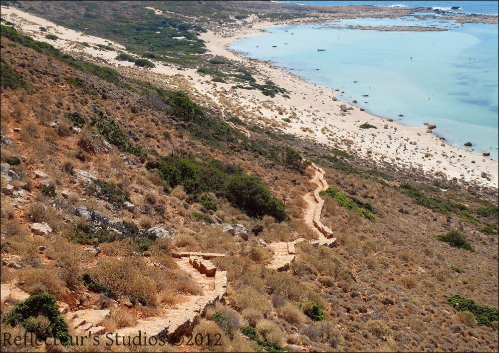 path crete balos gramvousa greece hellas
