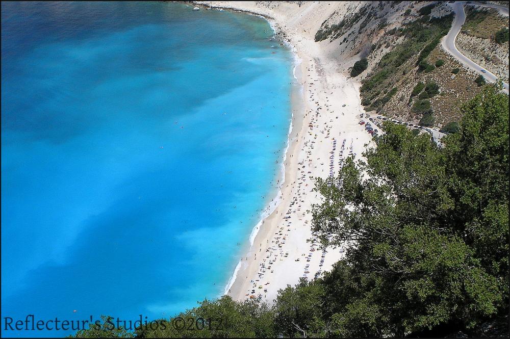 myrtos kefalonia ionian sea greece hellas