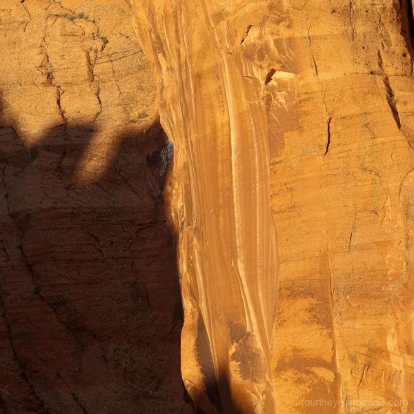 shadow in Utah canyon