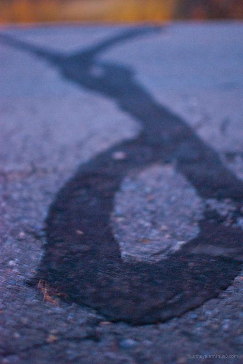 abstract road tar