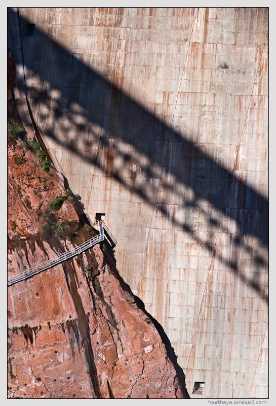 Glen Canyon dam detail