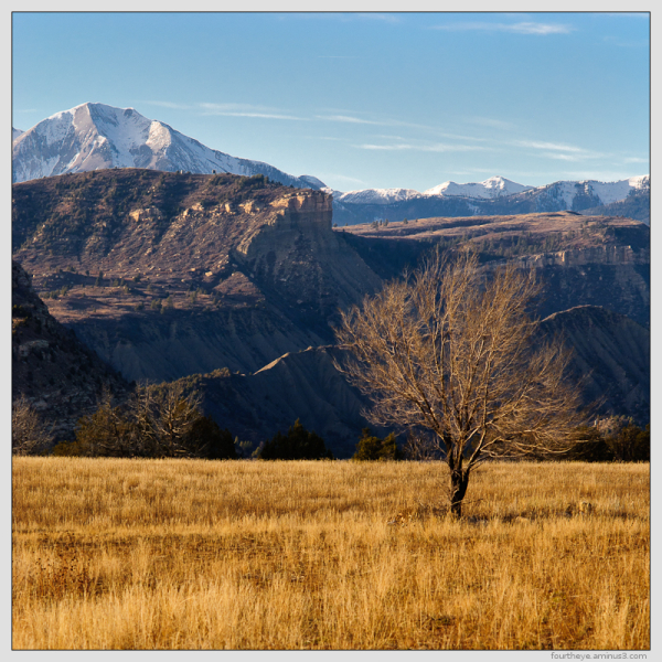 early winter mountain