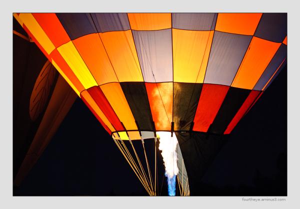 hot air baloon glow