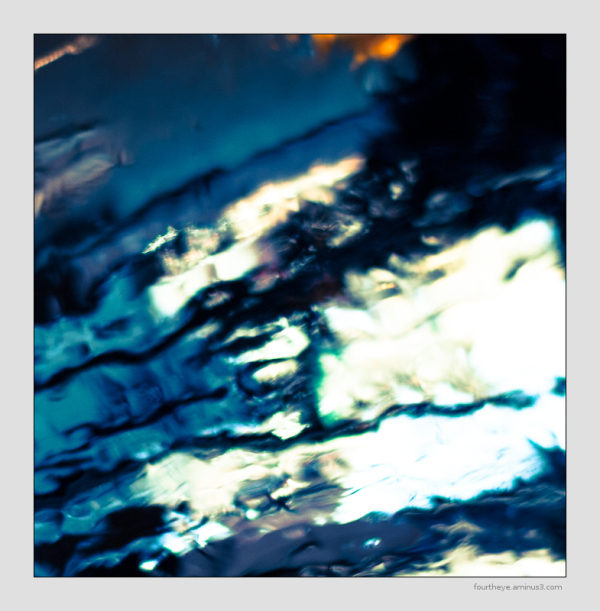 abstract reflection in metal