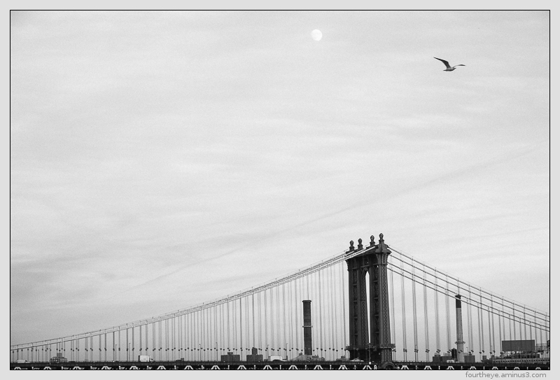 NYC Manhattan Bridge from Brooklyn Bridge