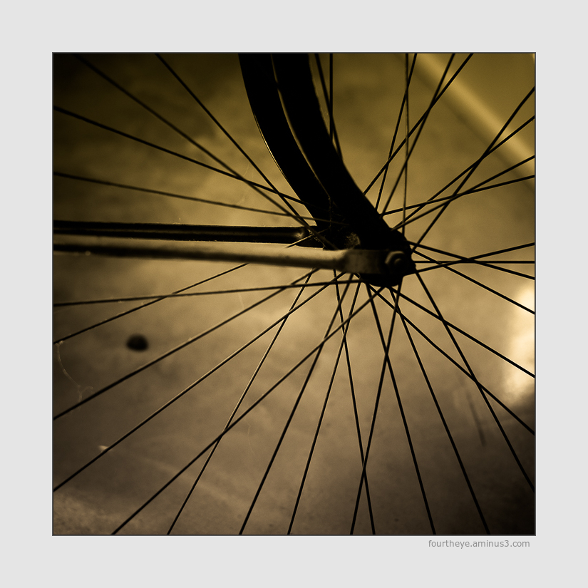 bicycle wheel abstract