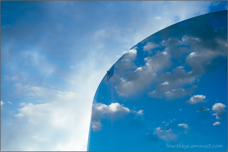 clouds in water tank