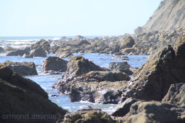 Our coastal view of the rocks.