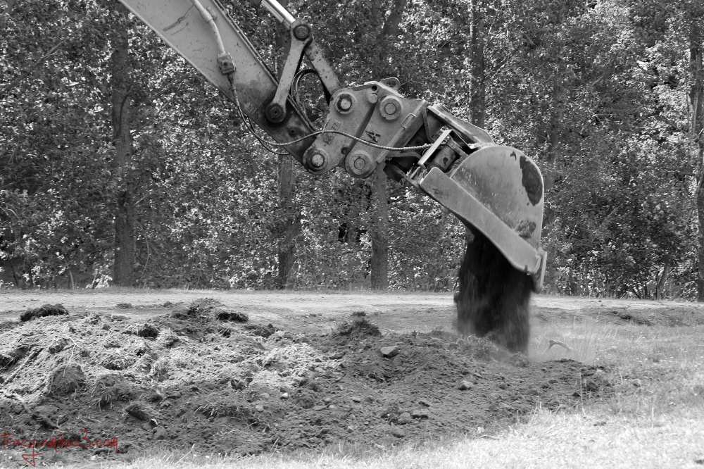 Digger working
