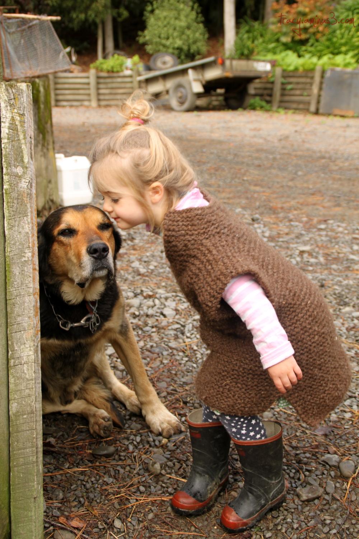 Doggy kisses