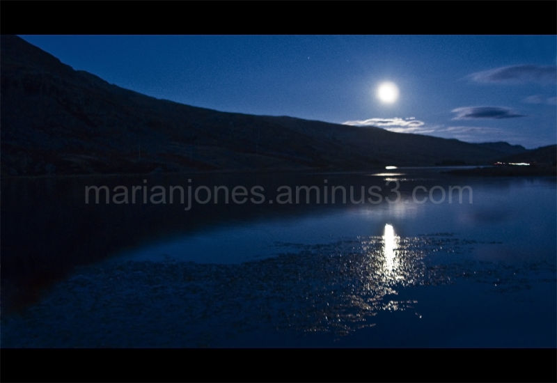 Moonlight over Llyn Idwal