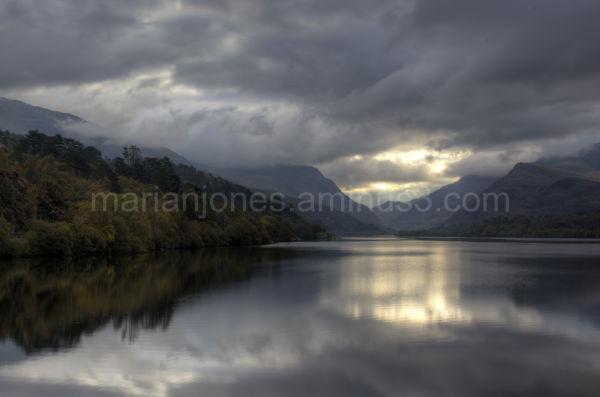 view across Llyn Padarn