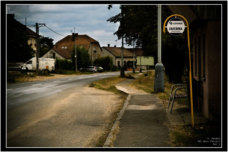 365 days project day 1: Village Bus Stop