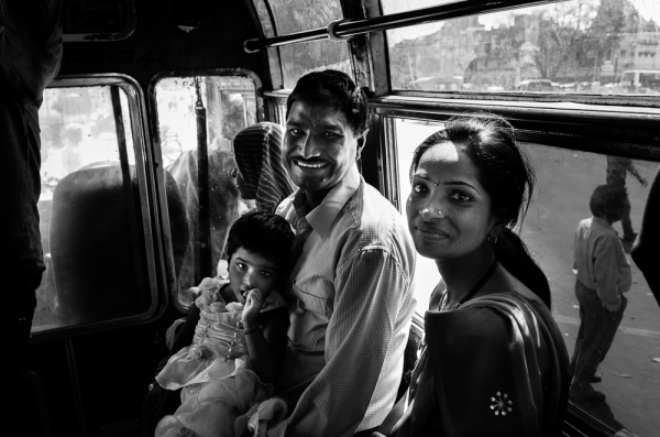 family on bus Jaipur
