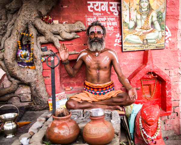 holy man in Varanasi