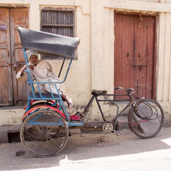 Rickshaw on standby