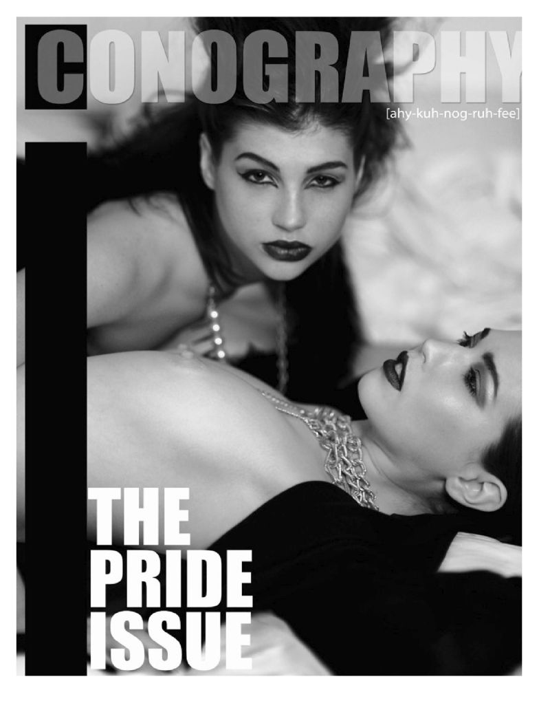 Laila Lee spike and pearls on ICONOGRAPHY cover
