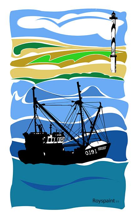 Fisher boat in harbor