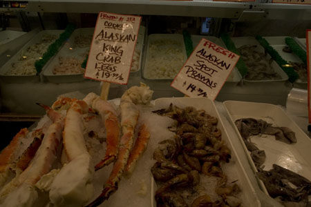 crab at Pike's Place