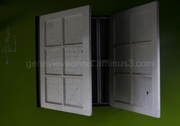 Windows on the floating Guest house