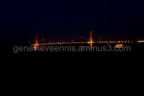 The golden gate bridge at night