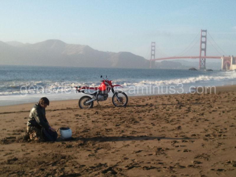 Motobike on Beach