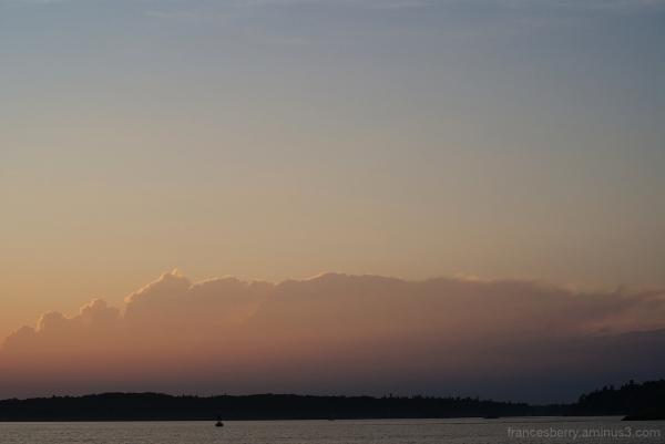 minimal sunset photo