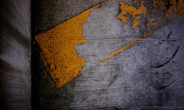 abstract photo of fainted yellow parking paint