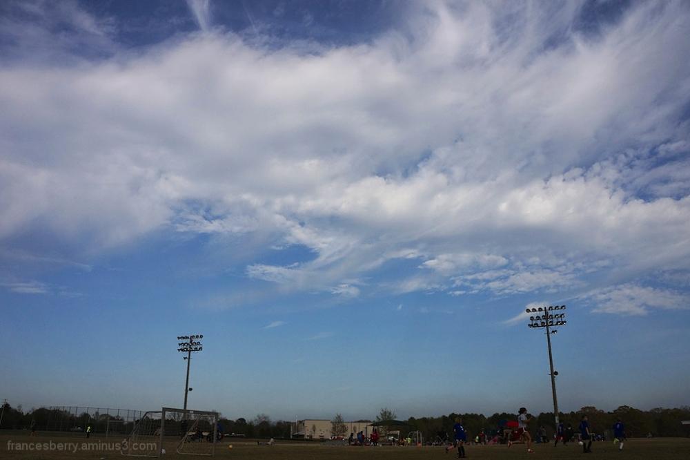 fisheye view soccer field american south