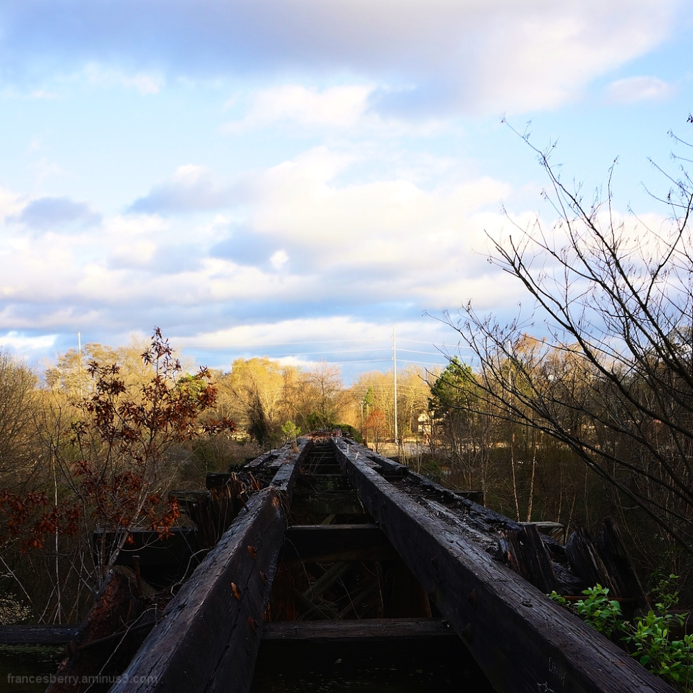 rem trestle from the top with clouds