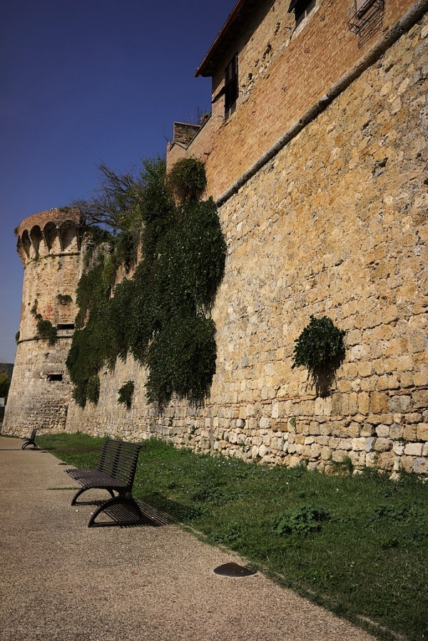 San Gimignano, Italy - wall of the city