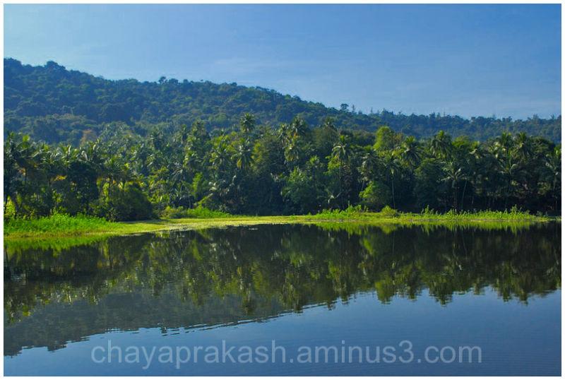 Landscape rural lake