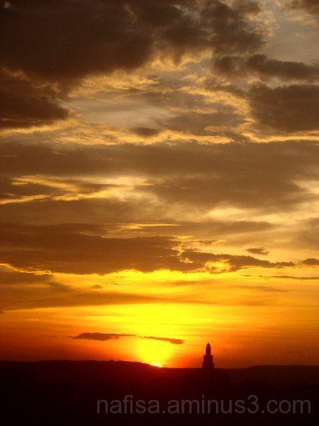 Sunset over Talcott Mountain, Hartford