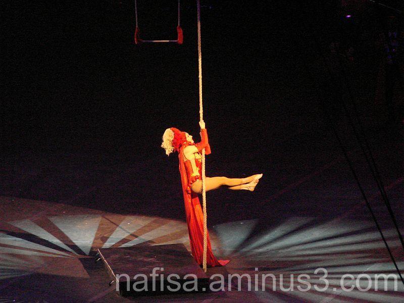 An acrobat @ Hartford Circus
