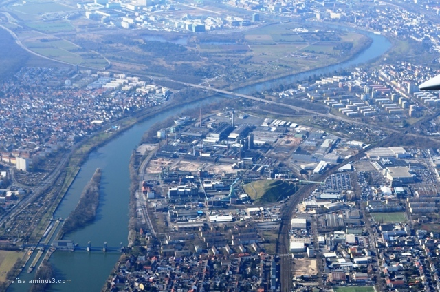 Bird's eye view of Frankfurt