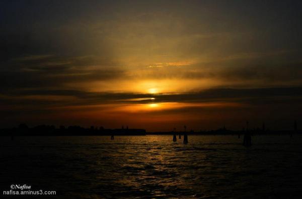 sunset @Venice Lido