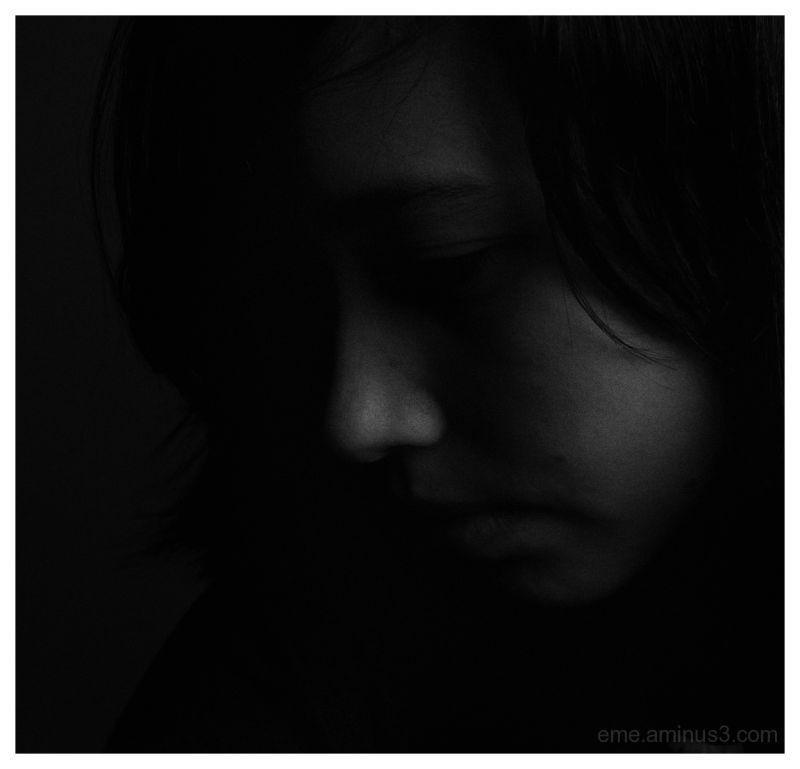 black and white, portrait