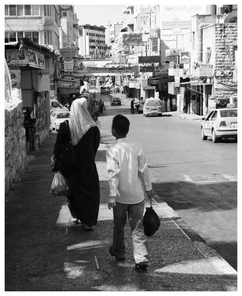 black&white, documentary, woman, boy, street, Rama