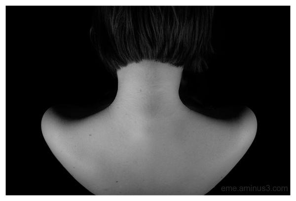 woman, nude, black&white, people, shoulders. neck