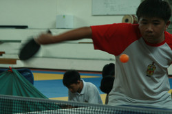 Table-tennis interhouse championships finals.
