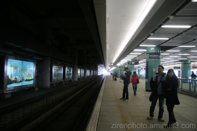 Vanishing points from Hong Kong MTR Subway Station